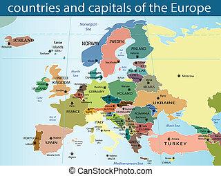首都, europ, 国