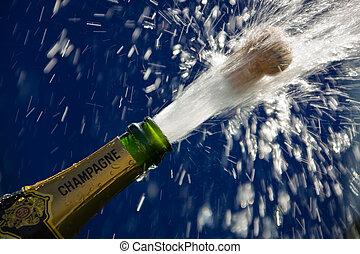 香槟酒瓶子