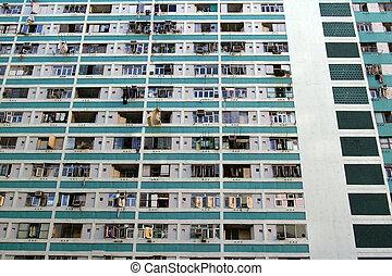香港, ハウジング, 再建, 下に, 公衆