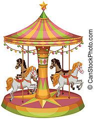馬の乗車, メリーゴーランド