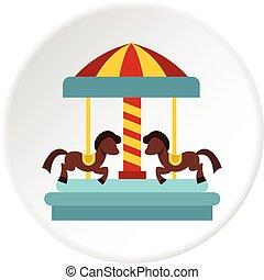 馬の乗車, 陽気, 行きなさい, 円, ラウンド, アイコン