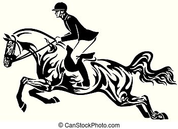 馬の跳躍は, 種族, ショー