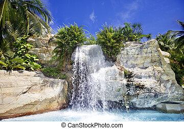 馬來西亞, 瀑布, 山, rainforest.