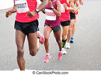馬拉松, 跑, 比賽