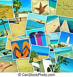 馬賽克, 由于, 圖片, ......的, 不同, 夏天, sceneries, 射擊, 所作, myself, 模擬, a, 牆, ......的, 快照, uploaded, 到, 社會, 聯网, 服務