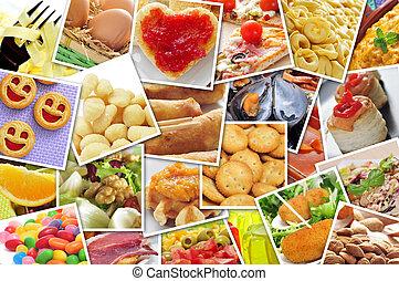 馬賽克, 由于, 圖片, ......的, 不同, 食物, 射擊, 所作, myself, 模擬, a, 牆, ......的, 快照, uploaded, 到, 社會, 聯网, 服務