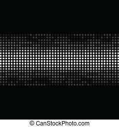 馬賽克, 結构, 上, a, 黑色, 背景。, a, 矢量, 插圖
