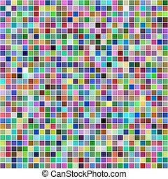 馬賽克, multicolor, 廣場, 象素, 背景