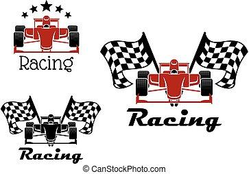 馬達競賽, 運動, 圖象, 由于, 比賽小汽車