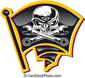 馬達, 海盜旗, 徽章