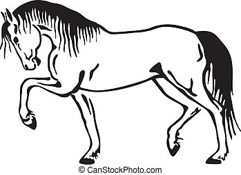 馬, ベクトル, スケッチ