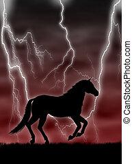 馬, 中に, ∥, 嵐