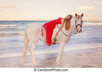 馬, 女, ロマンチック