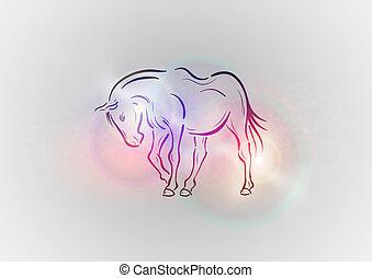 馬, 抽象的