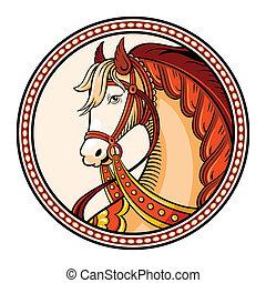 馬, 紋章