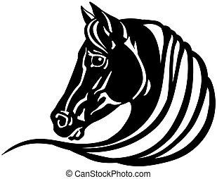 馬, 頭, 黒