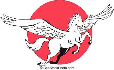 馬, 飛行, 漫画, pegasus