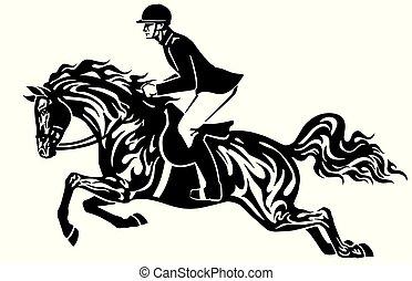 馬, 黒, ライダー