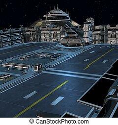 駅, 未来派, スペース