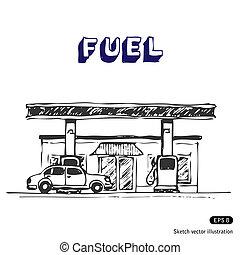 駅, 燃料
