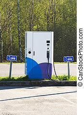 駅, cars., 電気である, 充満