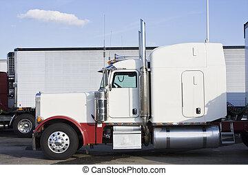 駐車される, 半トラック