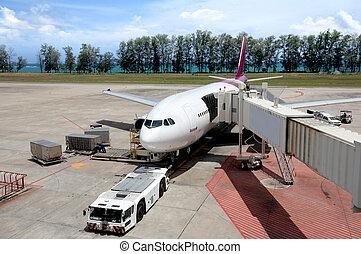 駐車される, 航空機