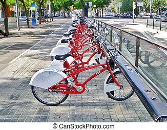 駐車される, bikes.