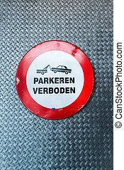 駐車場サイン, オランダ語, いいえ