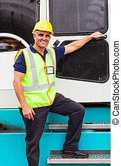 駕駛員, 鏟車, 港口