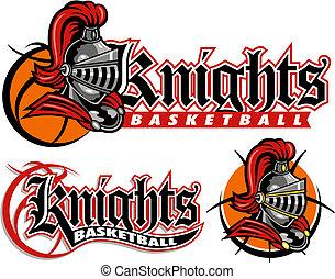 騎士, デザイン, バスケットボール