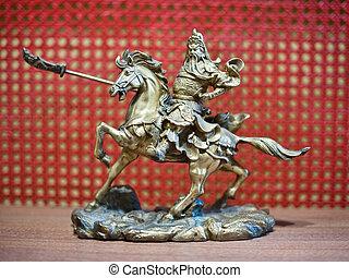騎士, ミニチュア, 馬の背