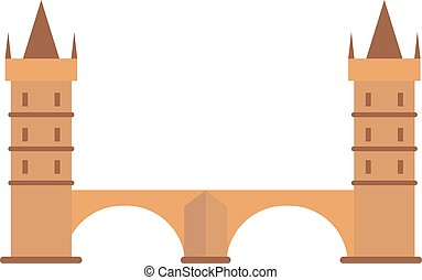 騎士, 中世紀, 小山, 鎮, 從, 城垛, 石頭, castle.