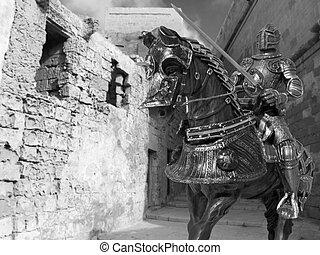騎士, 馬の背