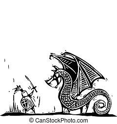 騎士, 龍