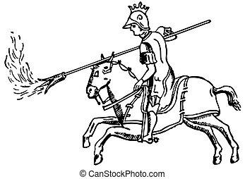 騎手, ギリシャ語, 火