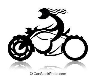 騎自行車的人, 上, 摩托車