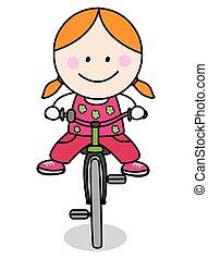 騎自行車的人, 女孩