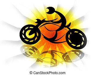 騎自行車的人, 摩托車