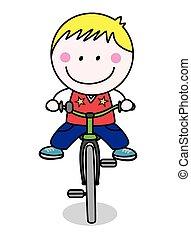 騎自行車的人, 男孩
