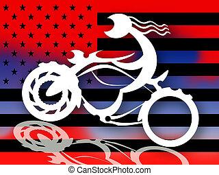 騎自行車的人, 美國人