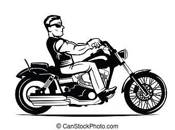 騎自行車的人