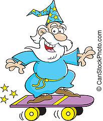 騎馬, 巫術師, 滑板, 卡通