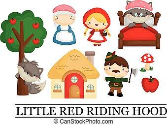 騎馬, 很少, 紅色, 敞篷