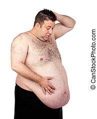 驚かされる, 太った男