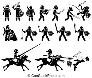 骑士, 中间, templar, war., 年龄, 中世纪