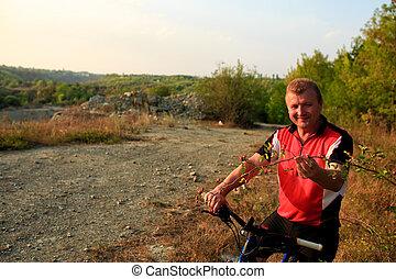 骑车者, 山地自行车, 户外, 摆脱