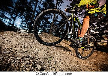 骑车者, 摆脱, bike., 山