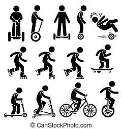 骑, 车辆, 公园