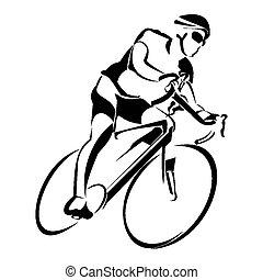 骑, bycicle